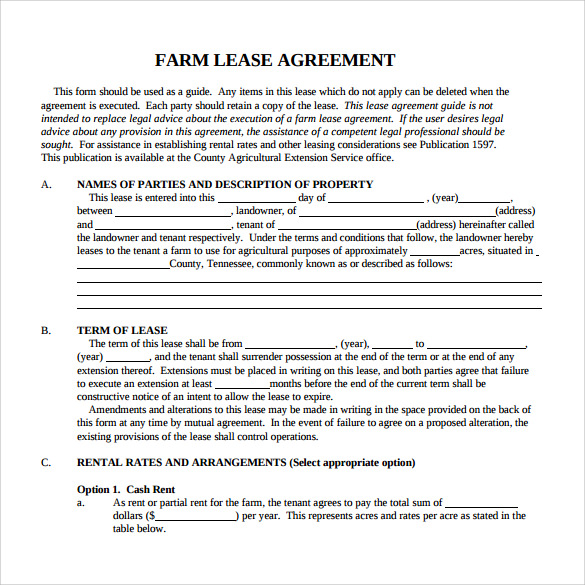 blank lease agreement to download