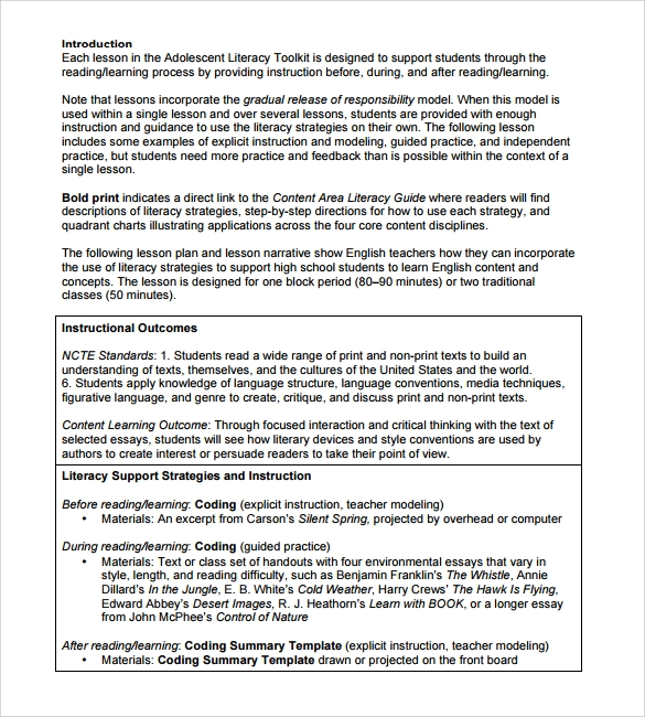 Essay custom writing lesson plans high school pdf