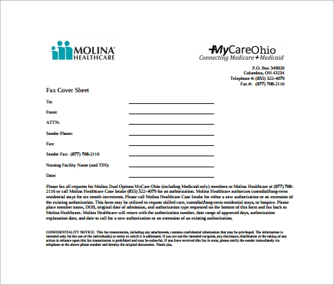 Sample Blank Fax Cover Sheet   Free Samples Examples Format