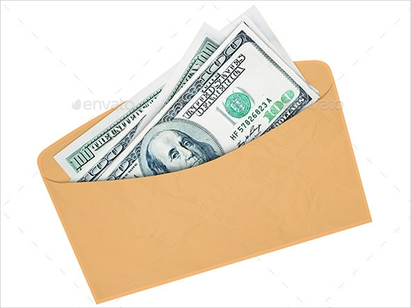 envelope with cash