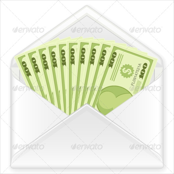 Money Envelope Template   Samples  Examples  Format