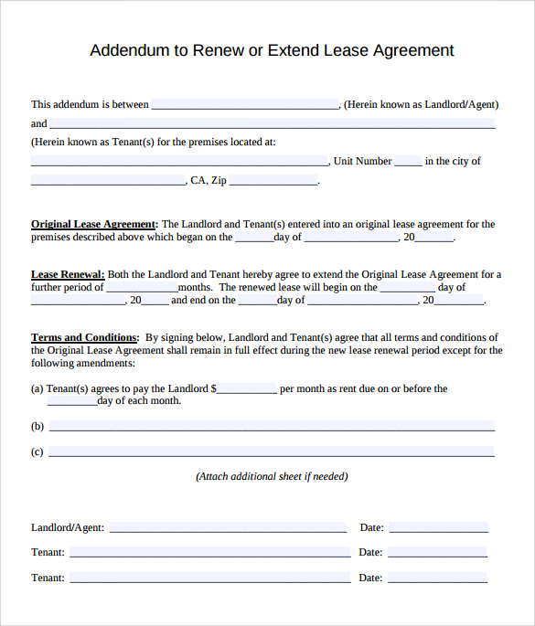 11  lease extension agreements
