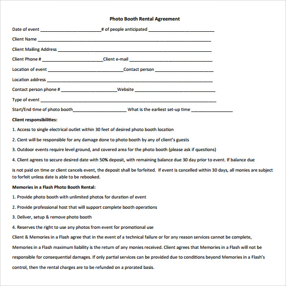 Booth Rental Agreement 6 Free Documents Download in PDF Word – Booth Rental Agreement