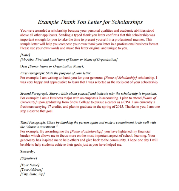 Sample Thank You Letter Format 9 Free Documents In Pdf Word