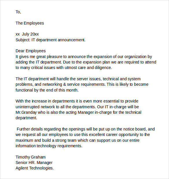 Sample It Cover Letter Samples  Examples  Format  Download