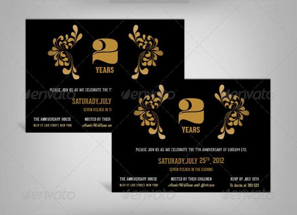 indesign anniversary invitation template
