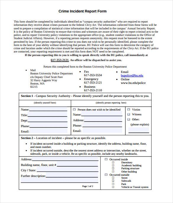 11+ Sample Crime Reports - PDF, Word