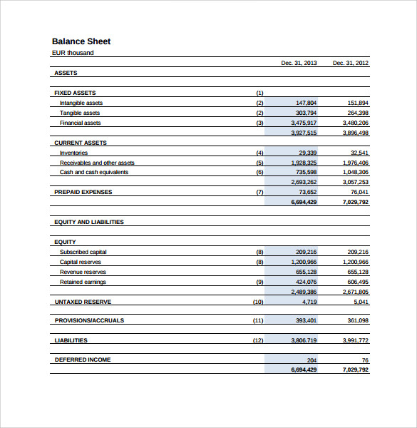 income statement sample