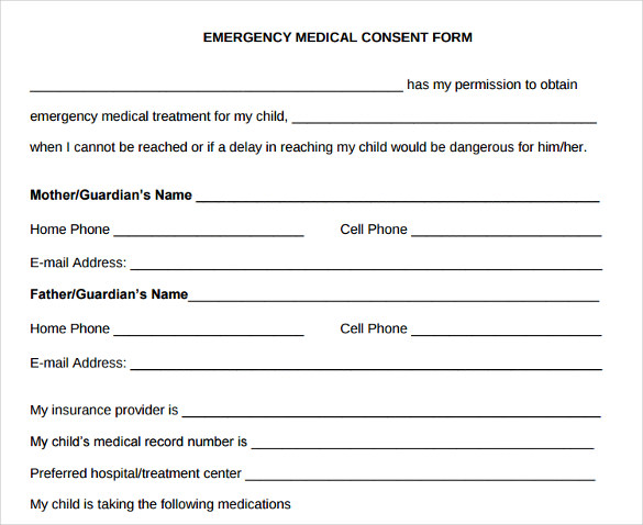 Child Medical Consent Form Template. Sample Child Medical Consent Form .  Free Child Medical Consent Form