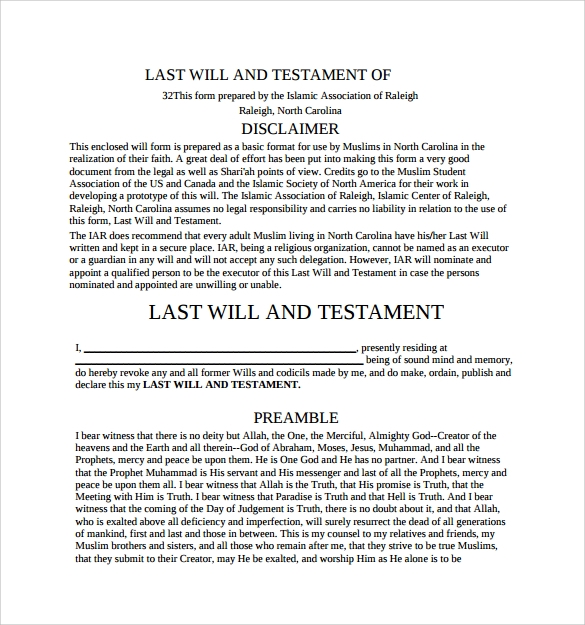 Last Will And Testament Template Trattorialeondoro - Last will and testament template pdf