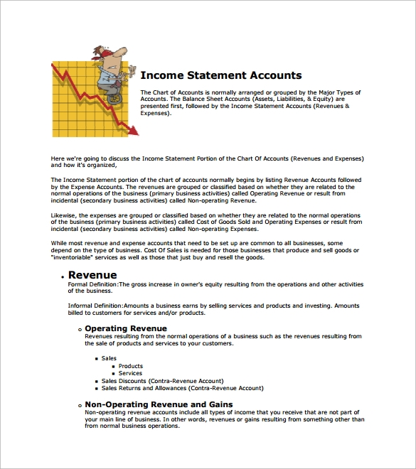 11 Income Statement Examples Free Sample Example Format – Business Income Statement Template