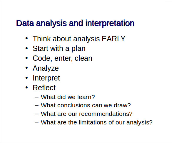 data analysis report template