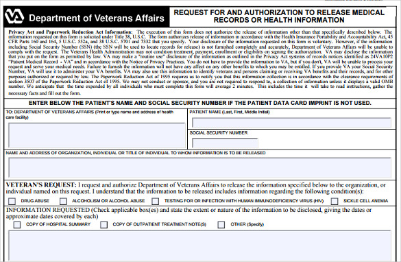 medical record release form templates