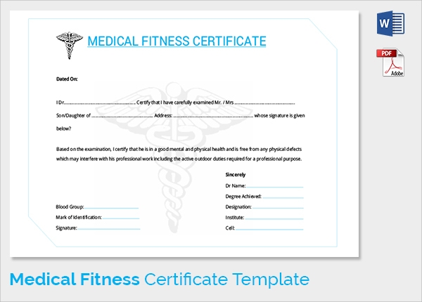 Sample medical certificate 33 download documents in pdf word student medical fitness certificate template yadclub Images