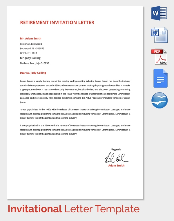 Sample Invitation Letter - 17+ Download Free Documents In ...