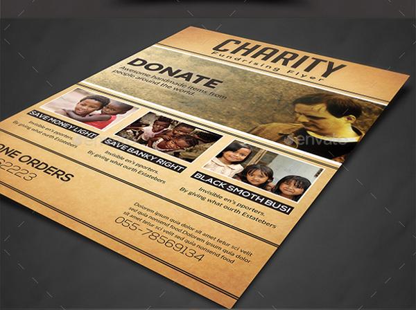charity fundraiser flyer