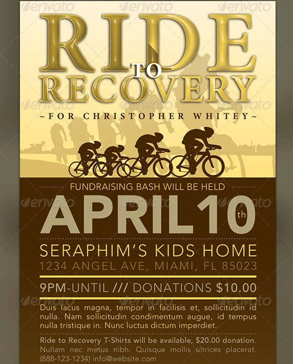 ride to recovery fundraiser flyer