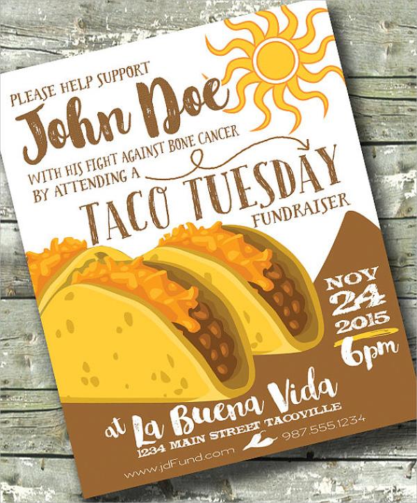 taco tuesday fundraiser flyer
