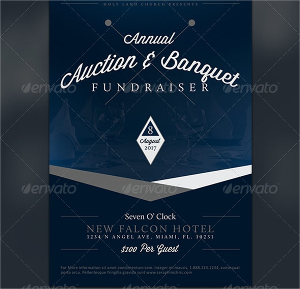 auction and banquet fundraiser flyer