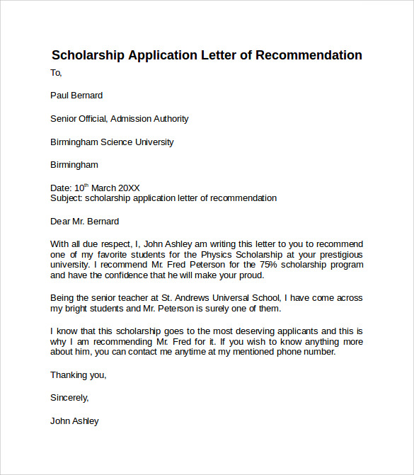 How To Write A Letter Of Intent For Scholarship