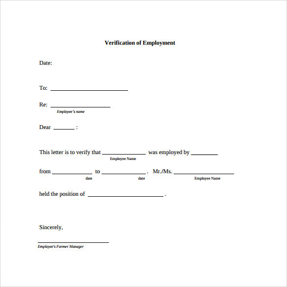 18 employment verification letter templates download for