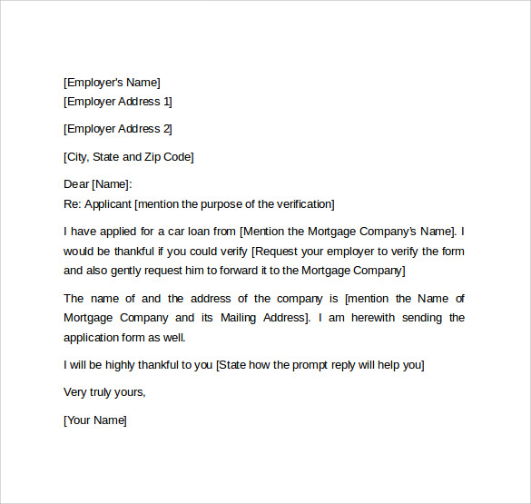 Letter Of Employment Gap For Mortgage