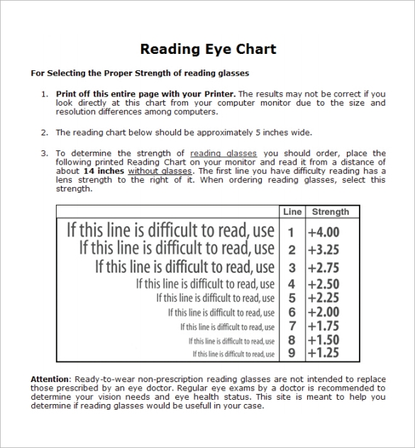 12 eye chart templates sample templates for Ophthalmology exam template