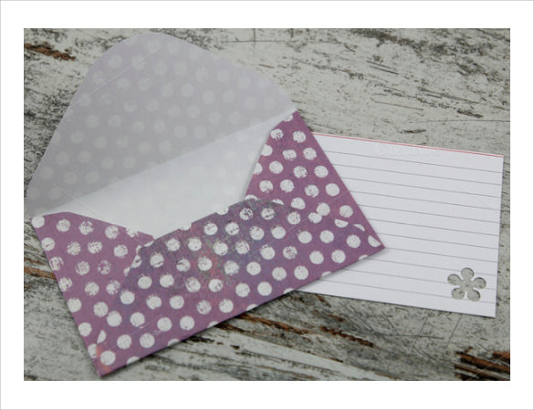 gift card envelope example