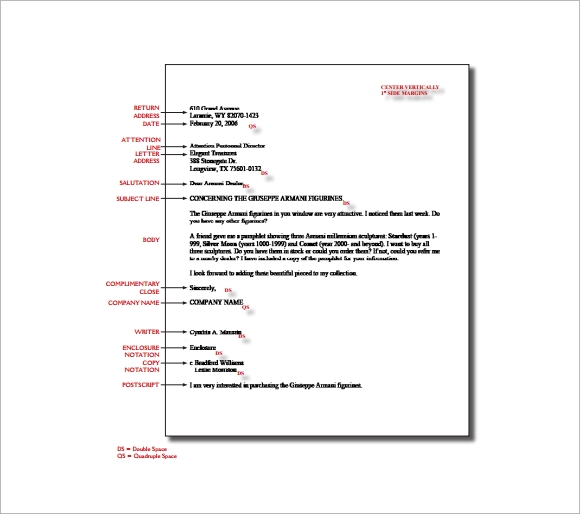 proper format for a business letter 14 proper letter formats free sample example format 24150 | Proper Letter Format Spacing