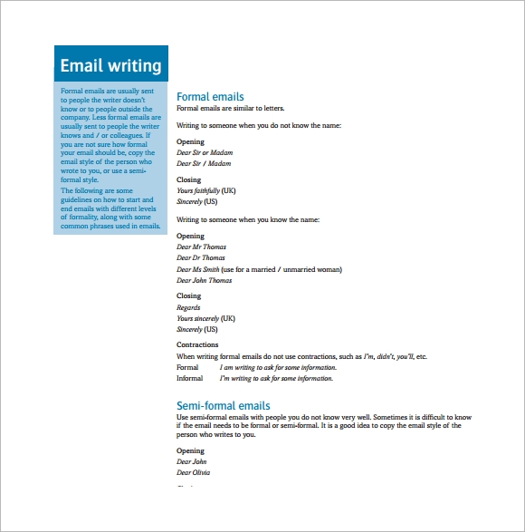 proper mailing letter format