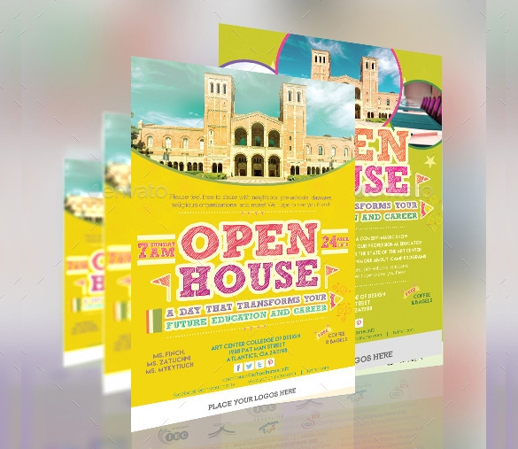 open house flyer template example