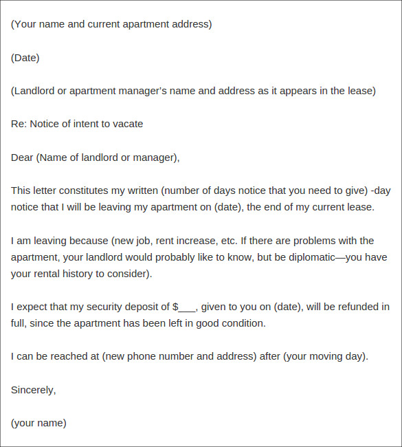 apartment lease termination agreement letter template