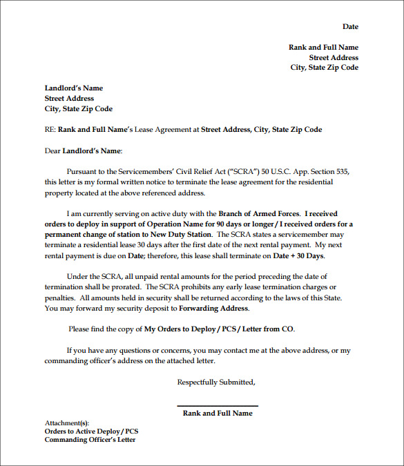 letter for termination of apartment lease1
