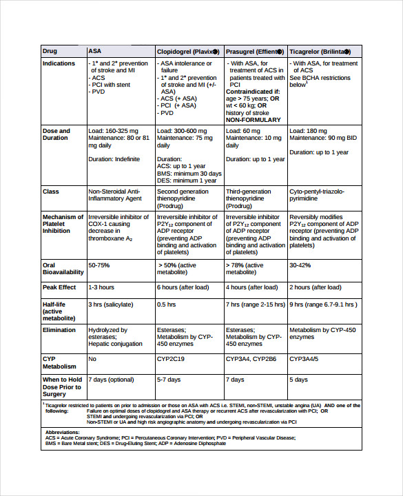 sample drug classification chart 7  free documents in pdf  word