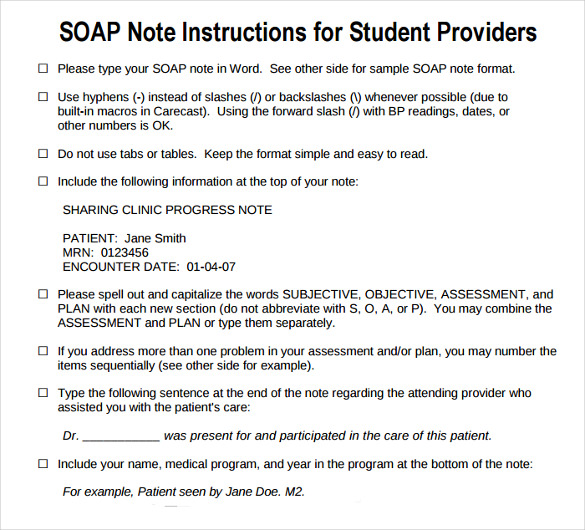 40 fantastic soap note examples & templates template lab.
