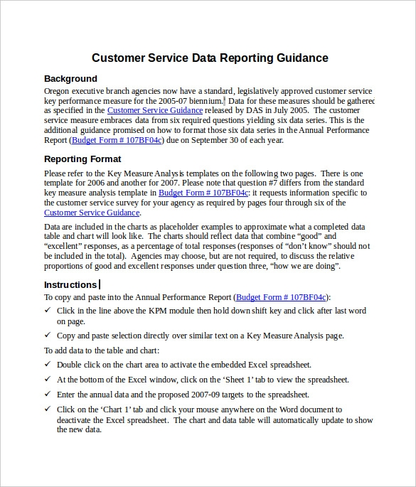 sample service report