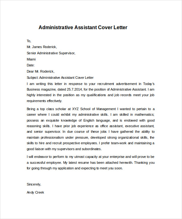 Administrative Assistant me dissertation report format