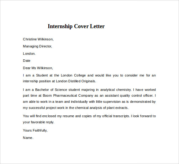 basic cover letter examples for students job application