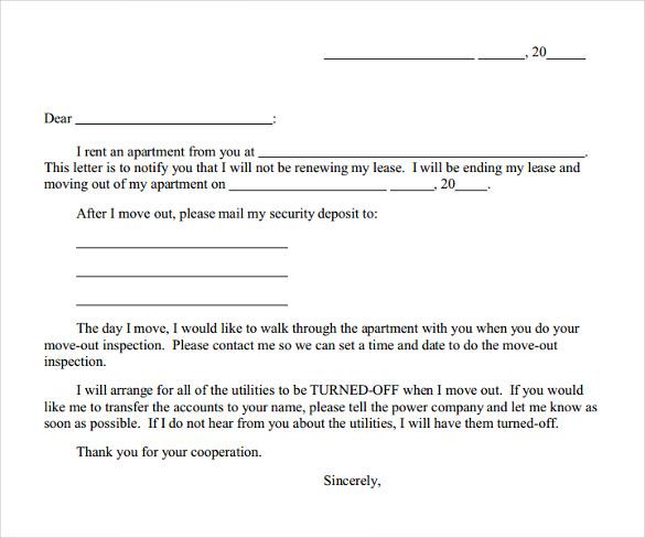 lease termination notice templates