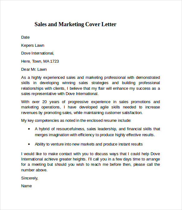 Graduate Marketing Cover Letter: Persuasive Speech About Abortion