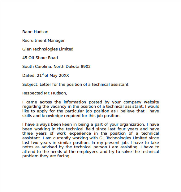 Lovely Free Simple Cover Letter Example.  Free Simple Cover Letter Examples