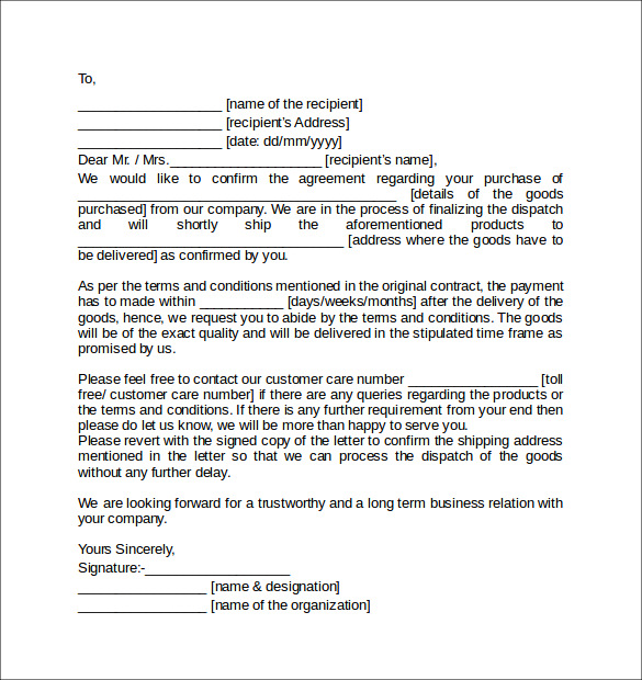 Business Purchase Agreement Letters   7 Download Free Documents In PDF Pe06kllM