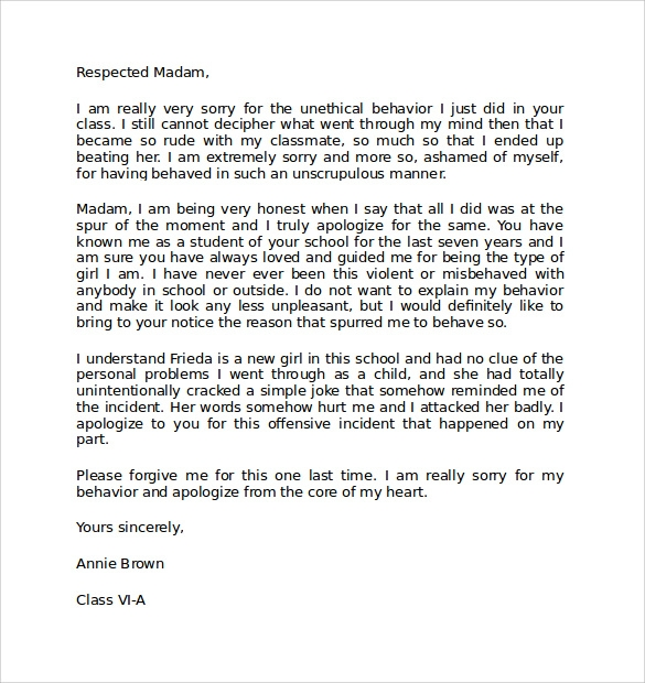 Professional Apology Letter