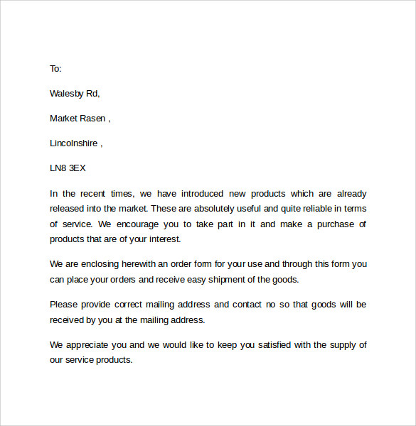 Sales Cover Letters Examples
