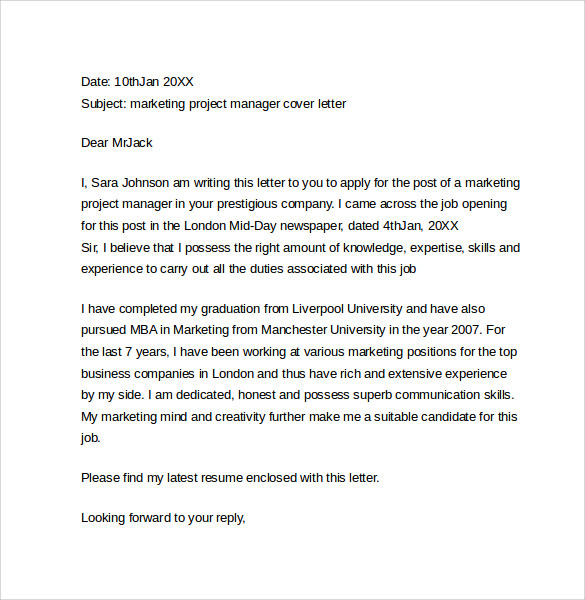 Best Sales Marketing Cover Letter Aploon