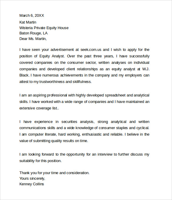 Sample Professional Cover Letter Example - 9+ Free Documents in PDF ...