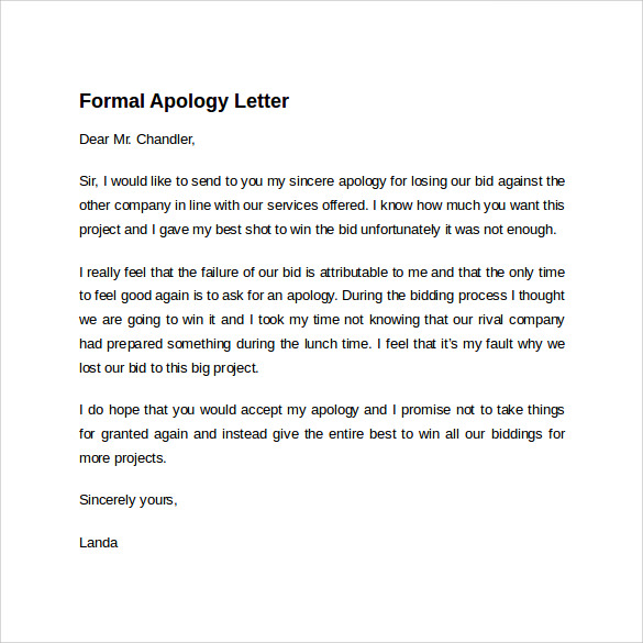 Apology Note  BesikEightyCo