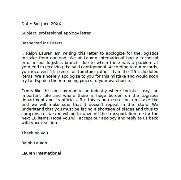 Sample Professional Business Letter Formats