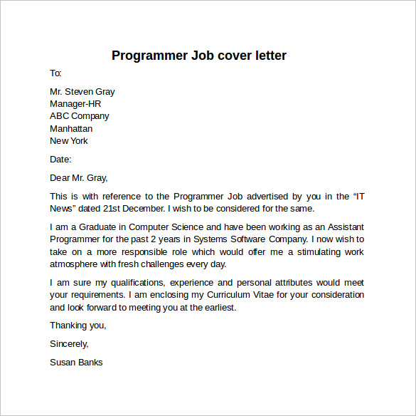 cover letter job - What Are Cover Letters For Jobs