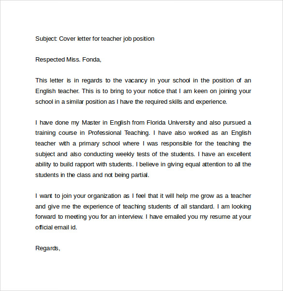 Email Cover Letter Example - 10+ Download Free Documents in PDF, Word